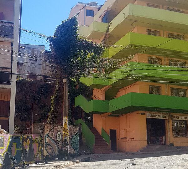 Enredadera eléctrica en calle Marquez de Valparaíso, The Network by Moraga