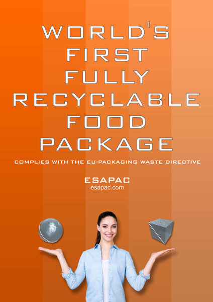 Esapac´s fully recyclable food package